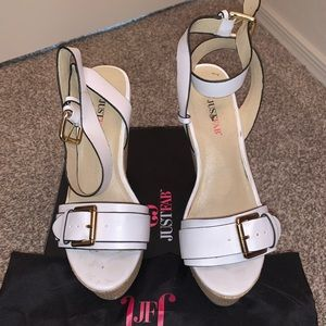 Used Just Fab Lucca Wedges